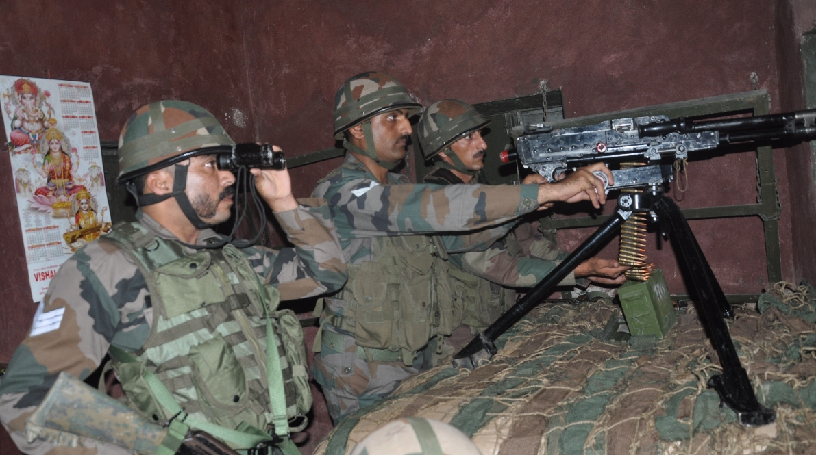 ceasefire voilation in naushera by pakistan strongly retailiated