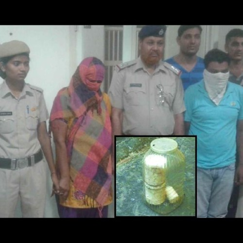 palwal woman made bomb to explode ex lover, this is how she caught