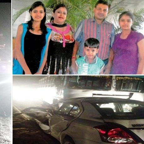 family finished on karwa chauth, five people killed in road accident in ludhiana