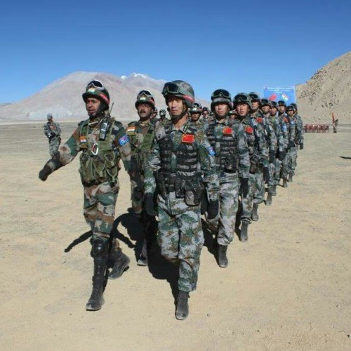Indian and Chinese armies today held the second joint tactical exercise