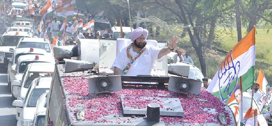 Captain amarinder singh on akali dal goverment and farmers of punjab