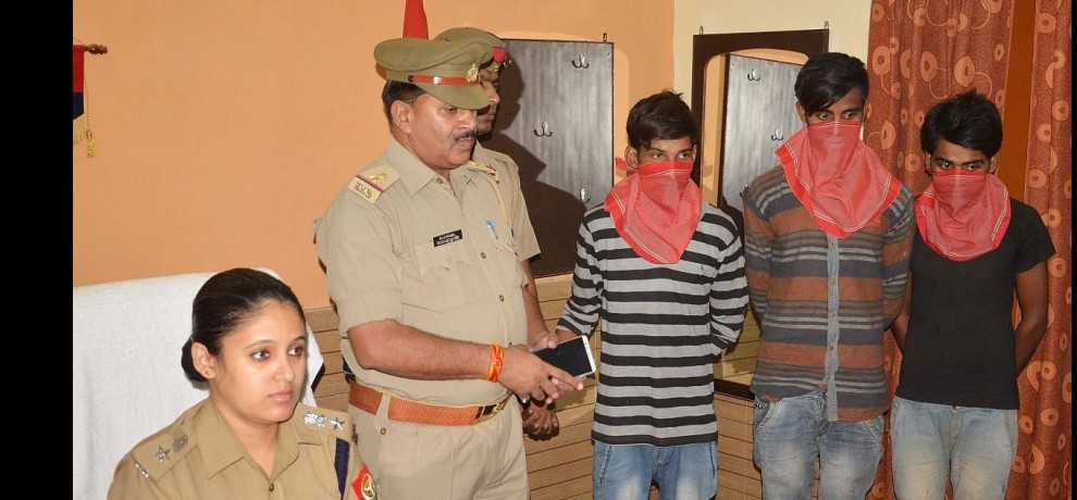 three gangsters arrested.