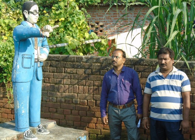 anger over statue of ambedkar
