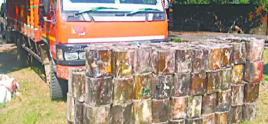 Moving seized 118 smuggled tin galbanum