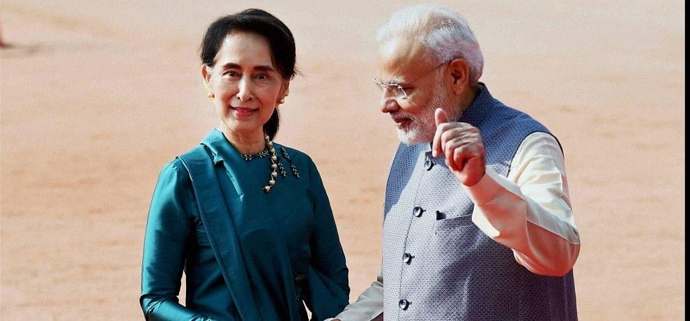 PM Modi and Aung San Suu Kyi discuss India-Myanmar ties; talk on border security, development