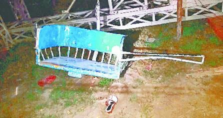 Ramlila fair hammock broke, four injured