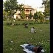 Bharat Mata Temple became a Junkies