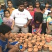 You light earthen lamps, brought smiles to the faces of children