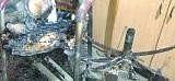 fatehabad, crime news, fire in sbi, bank, furneture burned, fatehabad,  harayana