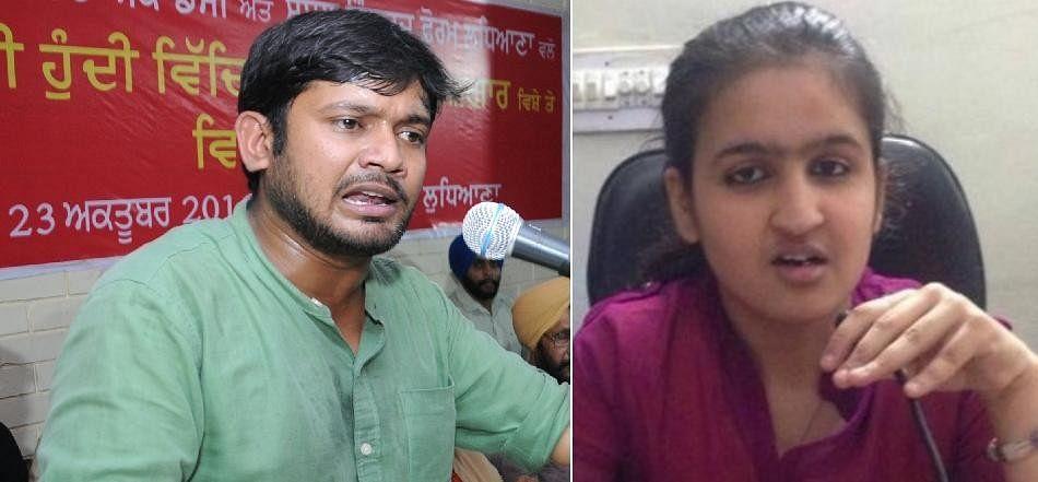 jnu student kanhaiya kumar challange for debate to ludhiana student jhanvi behal