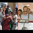 Protest against Kejriwal in Punjab, ballyragging  seen among police and women