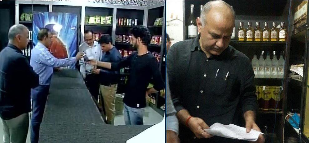 Deputy Chief minister manish sisodia raided on liquor shops mayur vihar