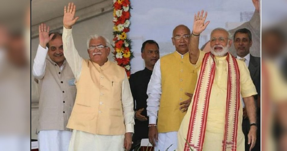 Image result for manohar lal and narendra modi