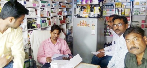 raid in 4 medical shops