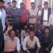 The contractors PWD office had closed, sitting on dharna