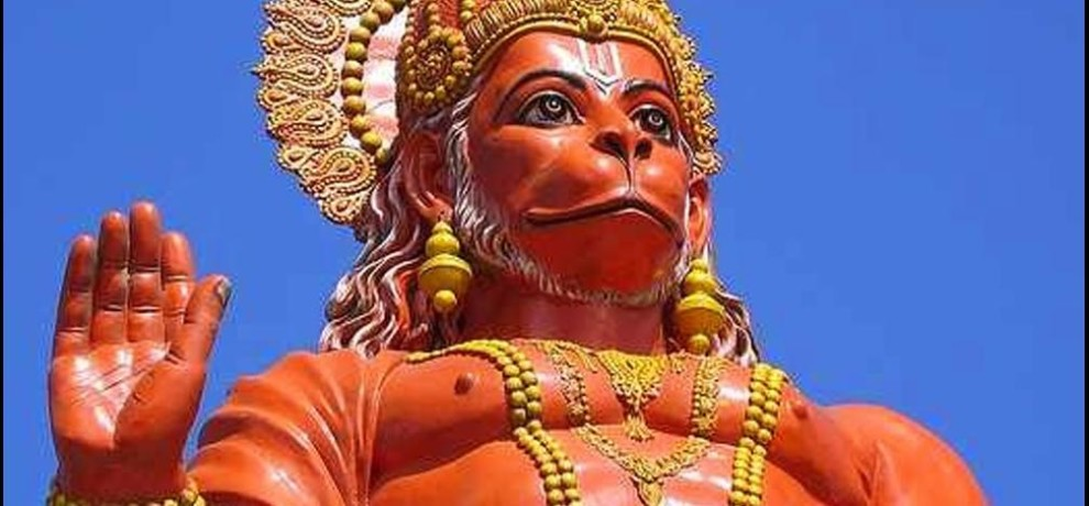 hanuman jayanti special: chopiyan were written in front of hanuman idol