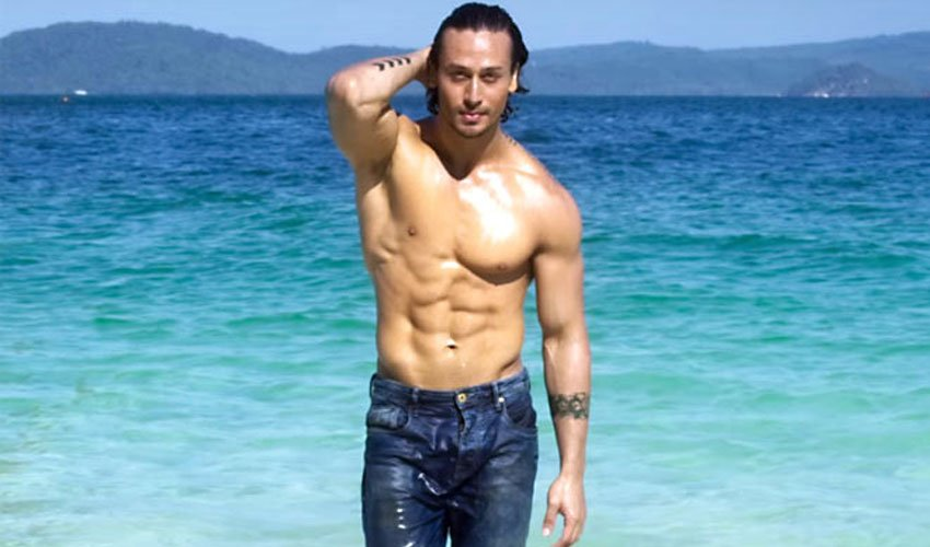 tiger shroff is busy doing his photoshoot