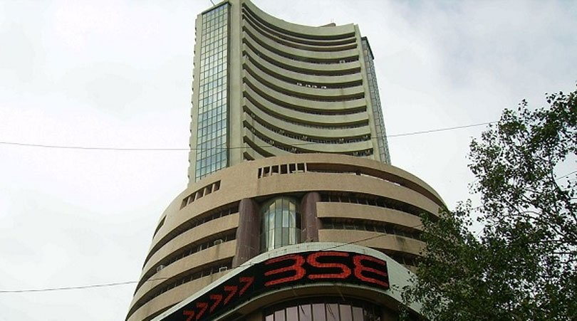 sensex rises by 200 points, rupee up by 1 paise