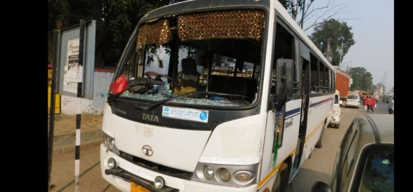 rewari news, fake, cid employee, bus, stop, packet, escape