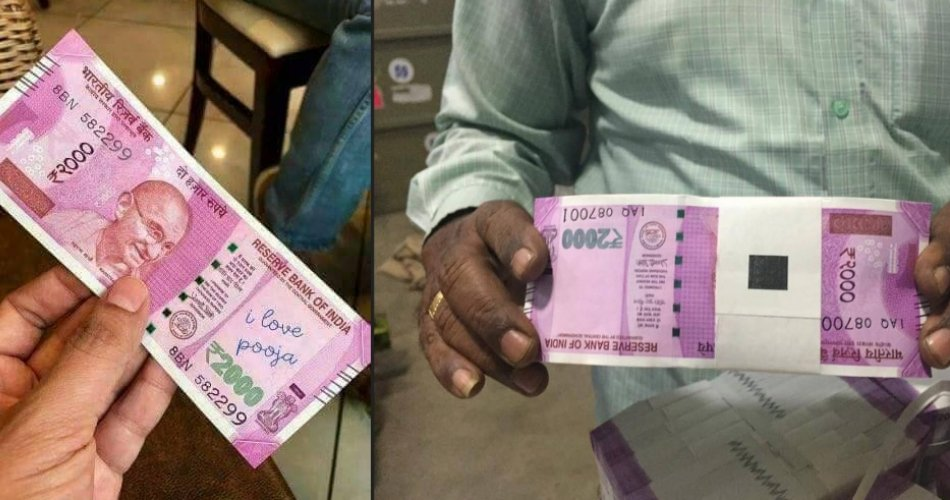 2000 rupee note note working in market, one reason is change money and second is fake note