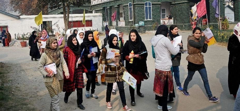 terrorism loosing by the courage of the kashmiri students