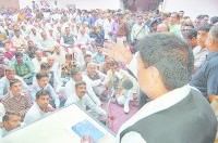 meeting, rajkumar saini, people gathring, kaithal
