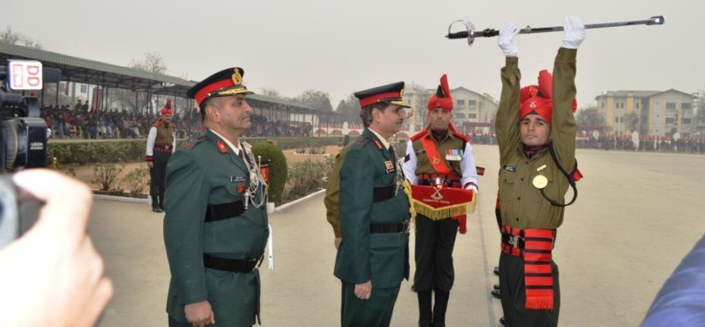 passing out parade of army in srinagar