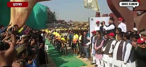 इटावा : दुनिया का सबसे लंबा लायन सफारी साइकिल ट्रैक