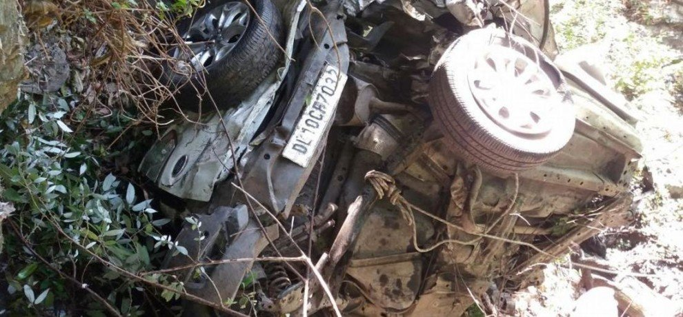 Car falls in ditch, killing four