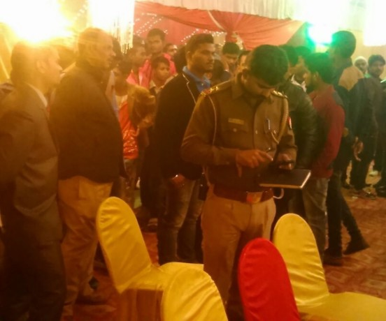 firing in a function in lucknow.