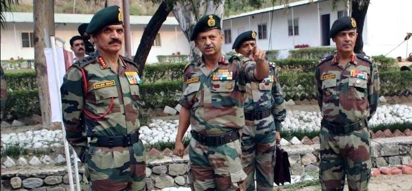 army chief dalbeer suhag visited nagrota base camp