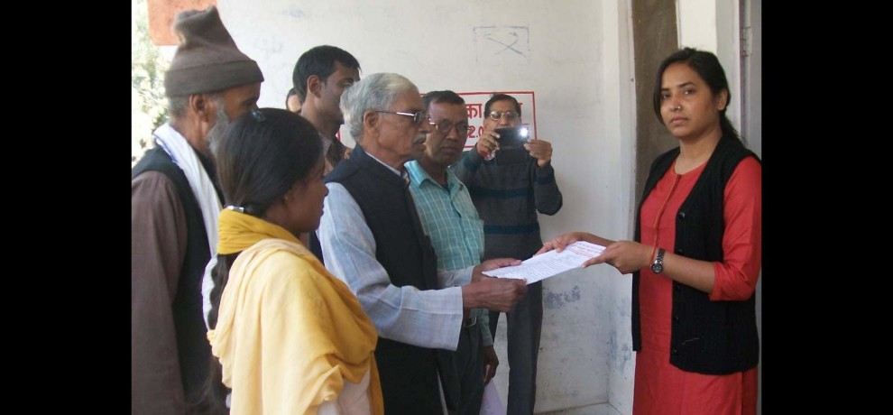 Memorandum submitted notification against Tiger Reserve