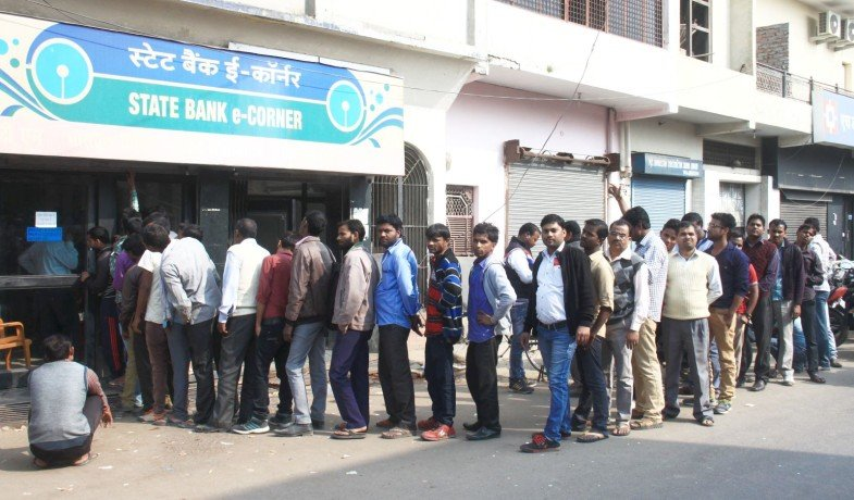 big line infront of atm