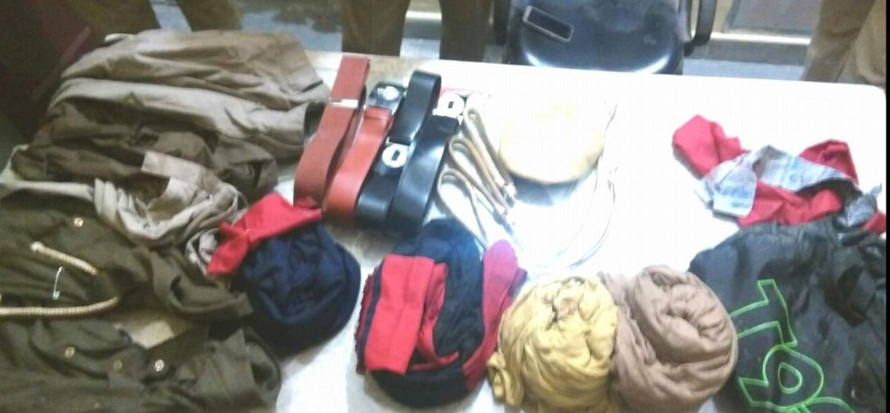 punjab police Uniform found in bag in roorkee area.