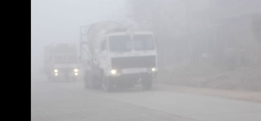 Slowed down the speed of vehicles in dense fog