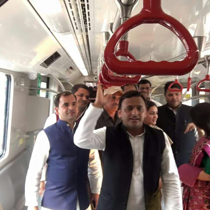 akhilesh yadav speaks on metro trial