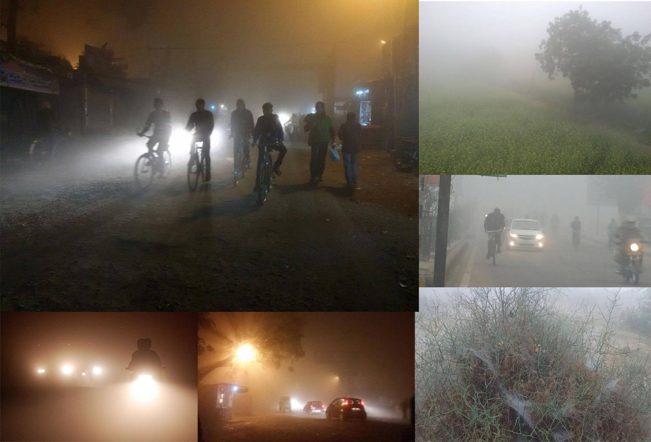 after night fog in kanpur morning view photos