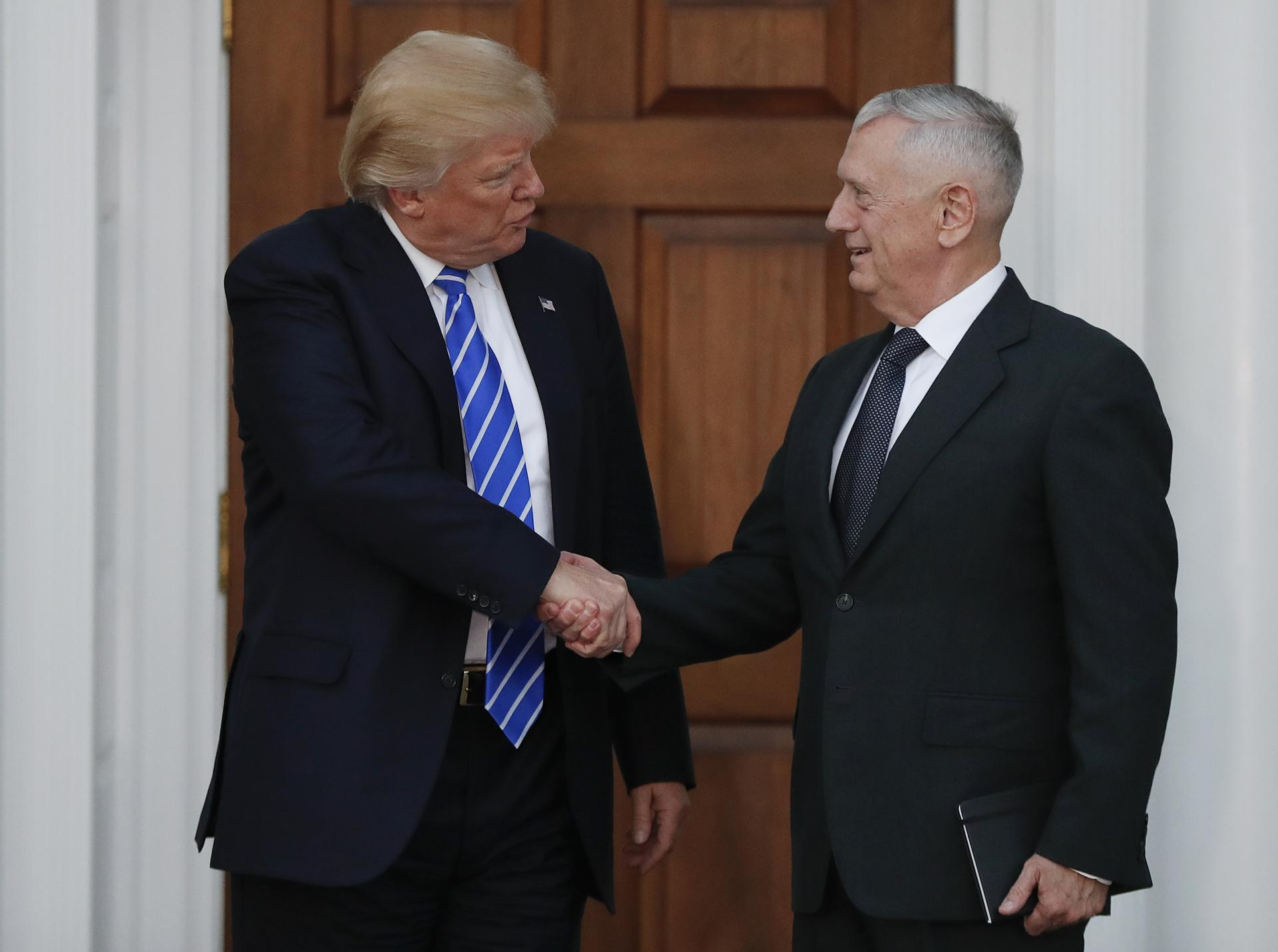 Trump to nominate retired General Mattis for defence Secretary