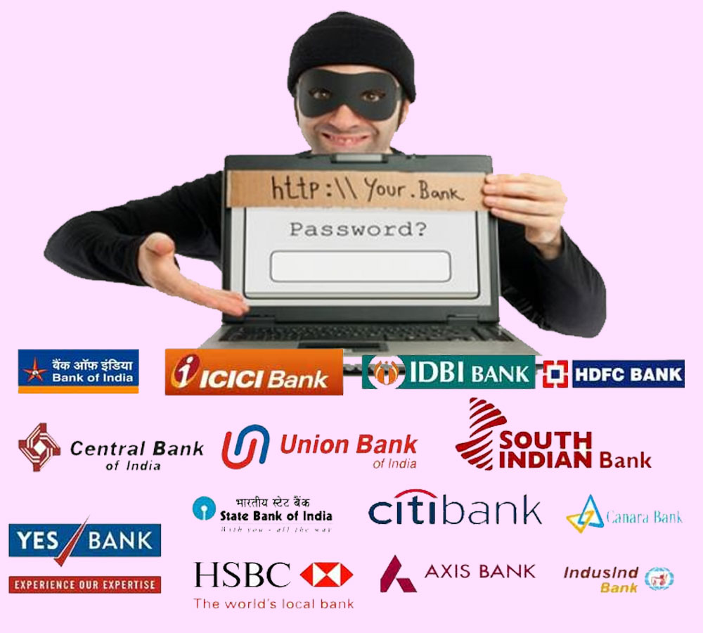 phishing websites stealing information from sbi icici 24 other banks us report