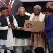 Akhilesh Yadav distributes free laptops to students