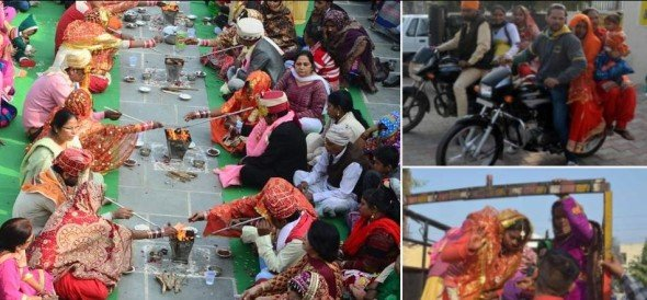 noteban changed situations in india, unique kind of 12 marriages at panipat of haryana