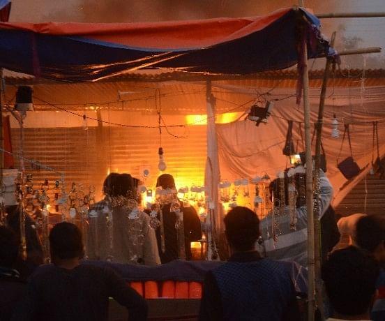 fire in Lucknow Mahotsav.