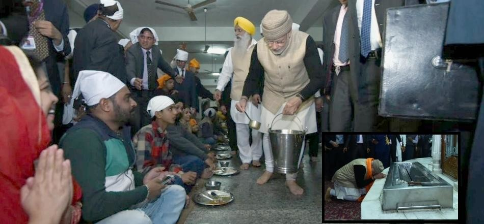 PM Modi Served 'Langar' at the Golden Temple