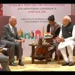 prime minister narendra modi in heart of asia summit at amritsar of punjab