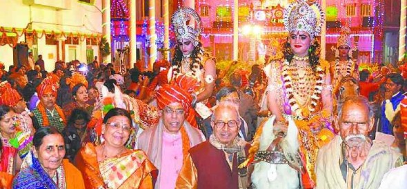Ram barat out of pomp and splendor in Ayodhya