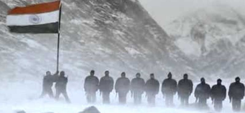 SOLDIERS GUARDING NATION IN -15 TEMPERATURE IN SIACHIN