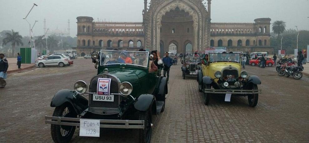 vintage car rally.