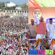 huge crowd in amit shah rally in haldwani.