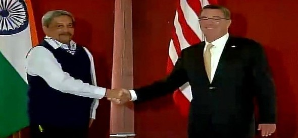 US Defence Secretary Ashton Carter meets Manohar Parrikar