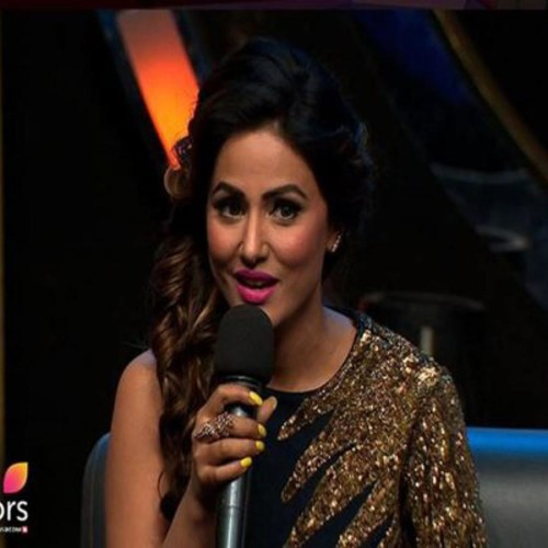 hina khan at bigg boss house